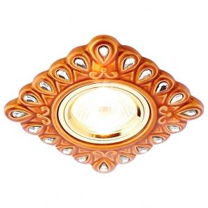 Встраиваемый светильник Ambrella Ceramo D5550 SB/CL бронза прозрачный керамика ЛАМПА 5вт в КОМПЛЕКТЕ