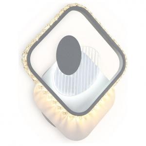 Накладной светильник Ambrella Ice 1 FA266 WH/GR белый/серый LED 3000K+6400K 16W 310*270*50