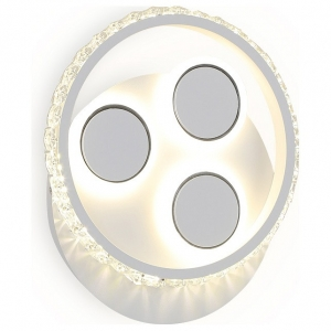Накладной светильник Ambrella Ice 2 FA268 SWH белый песок LED 4200K 18W 240*210*50