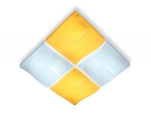 Накладной светильник Ambrella Orbital Parrus FP2382 WH 128W D500*500