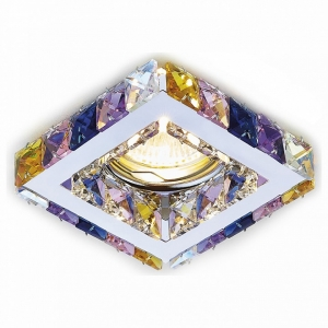 Встраиваемый светильник Ambrella Crystal 3 K110 RA/CH