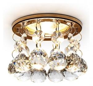 Встраиваемый светильник Ambrella Crystal K2051 K2051 CL/G