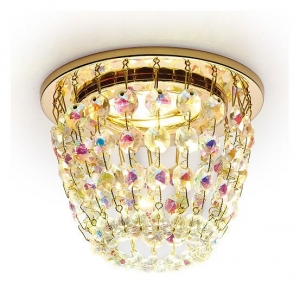 Встраиваемый светильник Ambrella Crystal K2075 K2075 G/PR