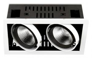 Встраиваемый светильник Ambrella Cardano T812 BK/CH 2*12W 4200K