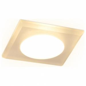 Встраиваемый светильник Ambrella TN138 TN138 WH/FR белый/матовый GU5.3 90*90*25