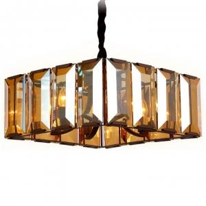 Подвесной светильник Ambrella Traditional 6 TR5150 CF/TI кофе/янтарь E14/6 max 40W 500*500*1000