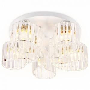 Накладной светильник Ambrella Traditional 1 TR5201/5 WH/CL белый/прозрачный E27/5 max 40W D500*180