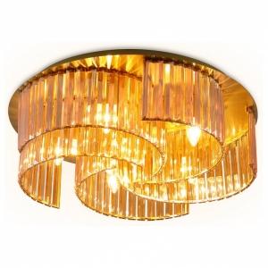 Накладной светильник Ambrella Traditional 2 TR5207/6 GD/TI золото/янтарь E27/6 max 40W D600*180