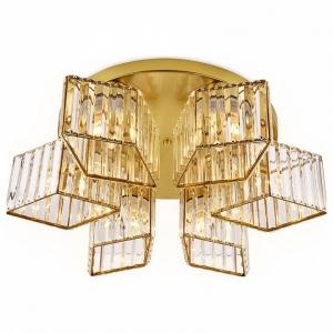 Накладной светильник Ambrella Traditional 3 TR5211/6 GD/CL золото/прозрачный E27/6 max 40W D550*180