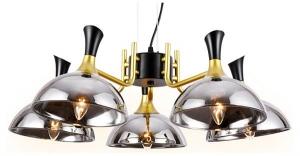 Подвесной светильник Ambrella Traditional 5 TR9082/5 BK/GD/SM черный/золото/дымчатый E27/5 max 40W D750*750