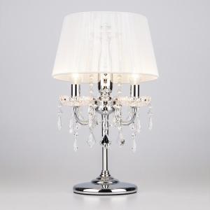 Настольная лампа декоративная Eurosvet Allata 2045/3T хром/белый настольная лампа