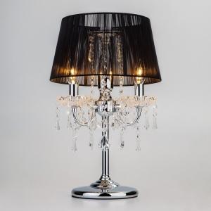Настольная лампа декоративная Eurosvet Allata 2045/3T хром/черный настольная лампа
