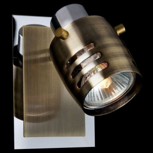 Спот Eurosvet Leonardo 23463/1 хром/античная бронза