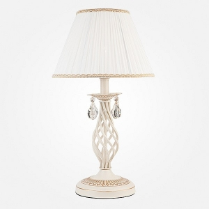 Настольная лампа декоративная Eurosvet Amelia 10054/1 белый с золотом/прозрачный хрусталь Strotskis