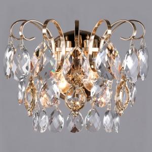 Накладной светильник Eurosvet Crystal 10081/2 золото/прозрачный хрусталь Strotskis