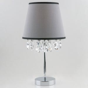 Настольная лампа декоративная Eurosvet Opera 01036/1 хром/прозрачный хрусталь Strotskis