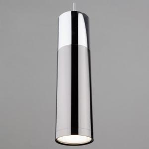 Подвесной светильник Eurosvet Double Topper 50135/1 LED хром/черный жемчуг 12W