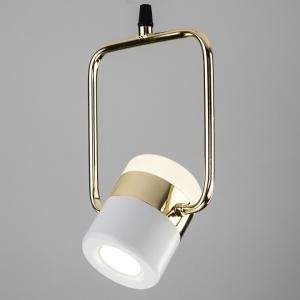 Подвесной светильник Eurosvet Oskar 50165/1 LED золото/белый
