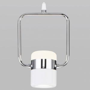 Подвесной светильник Eurosvet Oskar 50165/1 LED хром/белый