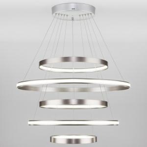 Подвесной светильник Eurosvet Olympia 90179/5 сатин-никель 145W