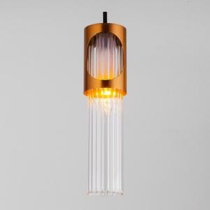 Подвесной светильник Eurosvet Clip 50087/1 черный/бронза