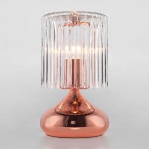 Настольная лампа декоративная Eurosvet Bulbo 01068/1 розовое золото