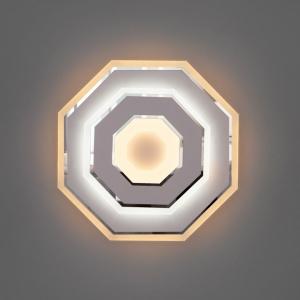 Накладной светильник Eurosvet Contorni 90184/1 белый/хром