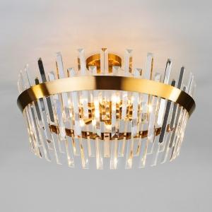 Накладной светильник Eurosvet Steccato 10111/8 золотая бронза/прозрачный хрусталь Strotskis