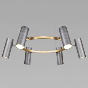 Подвесная люстра Eurosvet Spacer 90103/6 матовый серый/золото