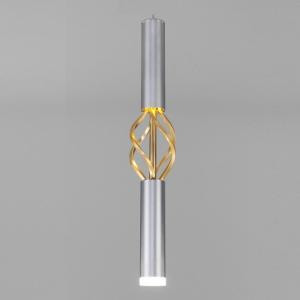 Подвесной светильник Eurosvet Lance 50191/1 LED матовое серебро/матовое золото