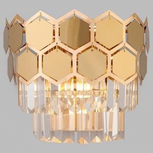Накладной светильник Eurosvet Ariana 10113/2 золото/прозрачный хрусталь Strotskis