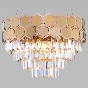 Подвесной светильник Eurosvet Ariana 10113/5 золото/прозрачный хрусталь Strotskis
