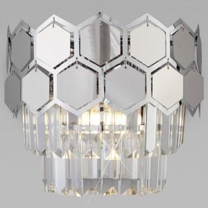 Накладной светильник Eurosvet Ariana 10113/2 хром/прозрачный хрусталь Strotskis