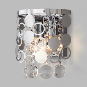 Накладной светильник Eurosvet Lianna 10114/2 хром/прозрачный хрусталь Strotskis