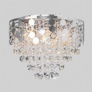 Подвесной светильник Eurosvet Lianna 10114/8 хром/прозрачный хрусталь Strotskis