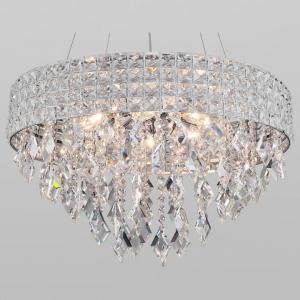 Подвесной светильник Eurosvet Kira 10115/8 хром/прозрачный хрусталь Strotskis