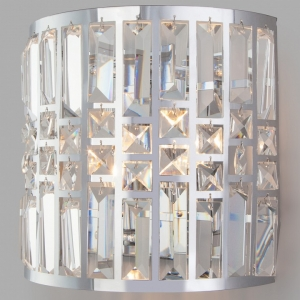 Накладной светильник Eurosvet Lory 10116/2 хром/прозрачный хрусталь Strotskis