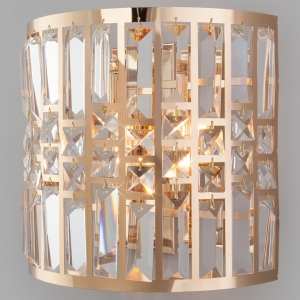 Накладной светильник Eurosvet Lory 10116/2 золото/прозрачный хрусталь Strotskis