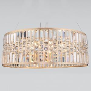 Подвесной светильник Eurosvet Lory 10116/8 золото/прозрачный хрусталь Strotskis