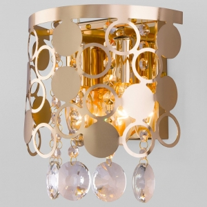 Накладной светильник Eurosvet Lianna 10114/2 золото/прозрачный хрусталь Strotskis