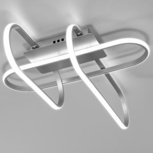 Потолочная люстра Eurosvet Grafette 90139/3 матовое серебро