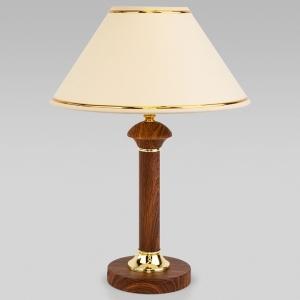 Настольная лампа декоративная Eurosvet Lorenzo 60019/1 орех