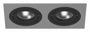 Встраиваемый светильник Lightstar Intero 16 double quadro i5290707